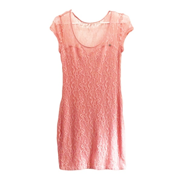 Guess Other - Guess Lace Cap Sleeve Dress Pink Size Medium